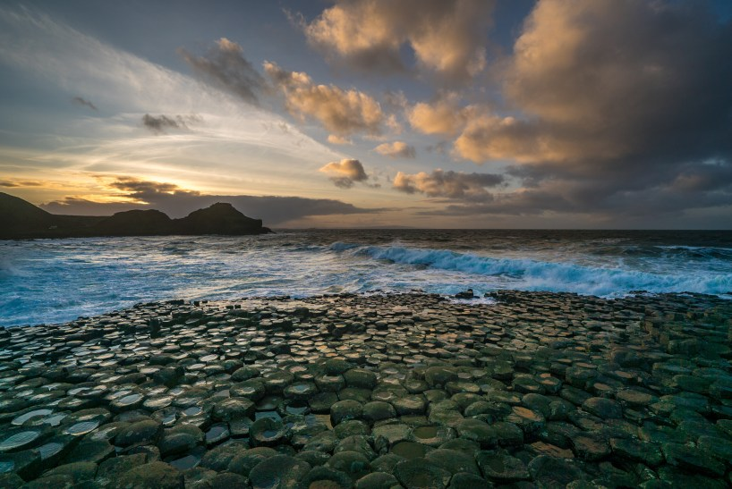 Giants Causeway sunset1