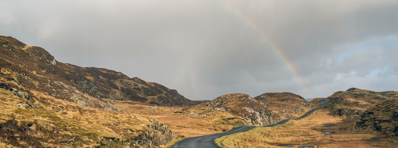 Rainbow at Slieve League Road