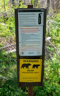 Glacier National park - Grizzly Warning Sign