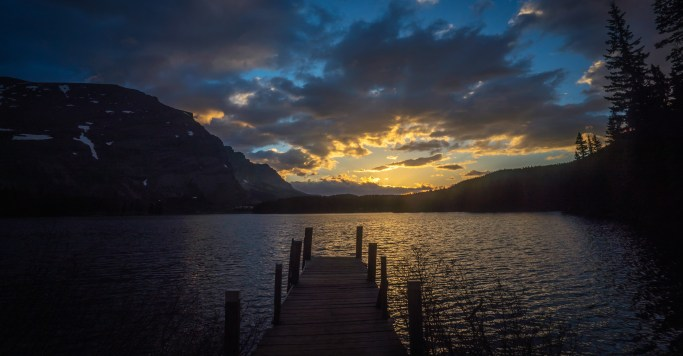 Sunrise Josephine Lake Dock
