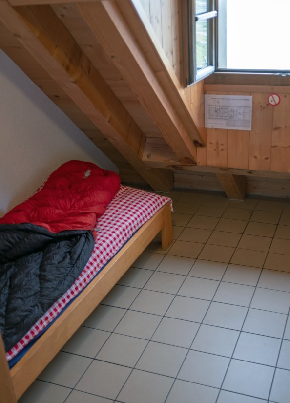 My room at Cabane du Mont Fort - perfect!