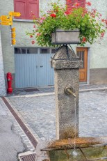 Public water fountain in Smebrancher - a good place to refill water bottles and take a break.