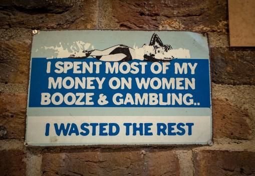 Spent Money Sign