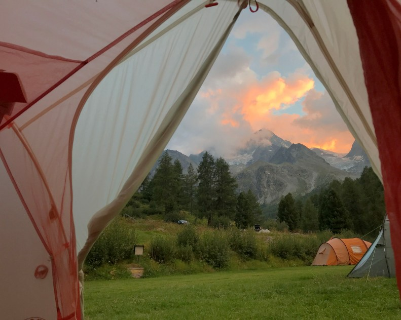 view from tent in Arolla
