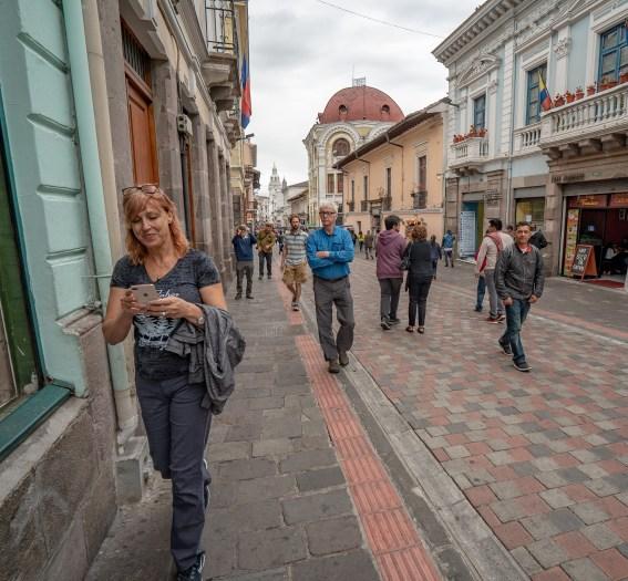 Bonnie Edison Lang Kris Walking Old Town