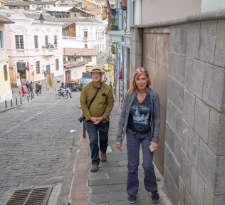 George and Bonnie in Quito