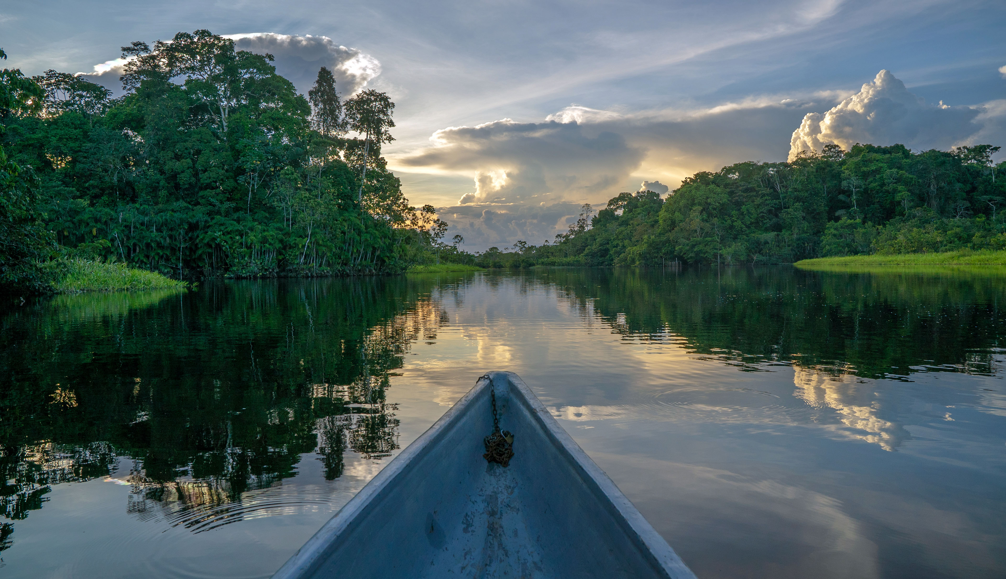 Sunset View from Canoe