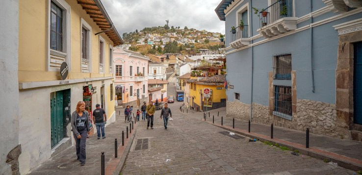 View of Mary from Old Town Quito