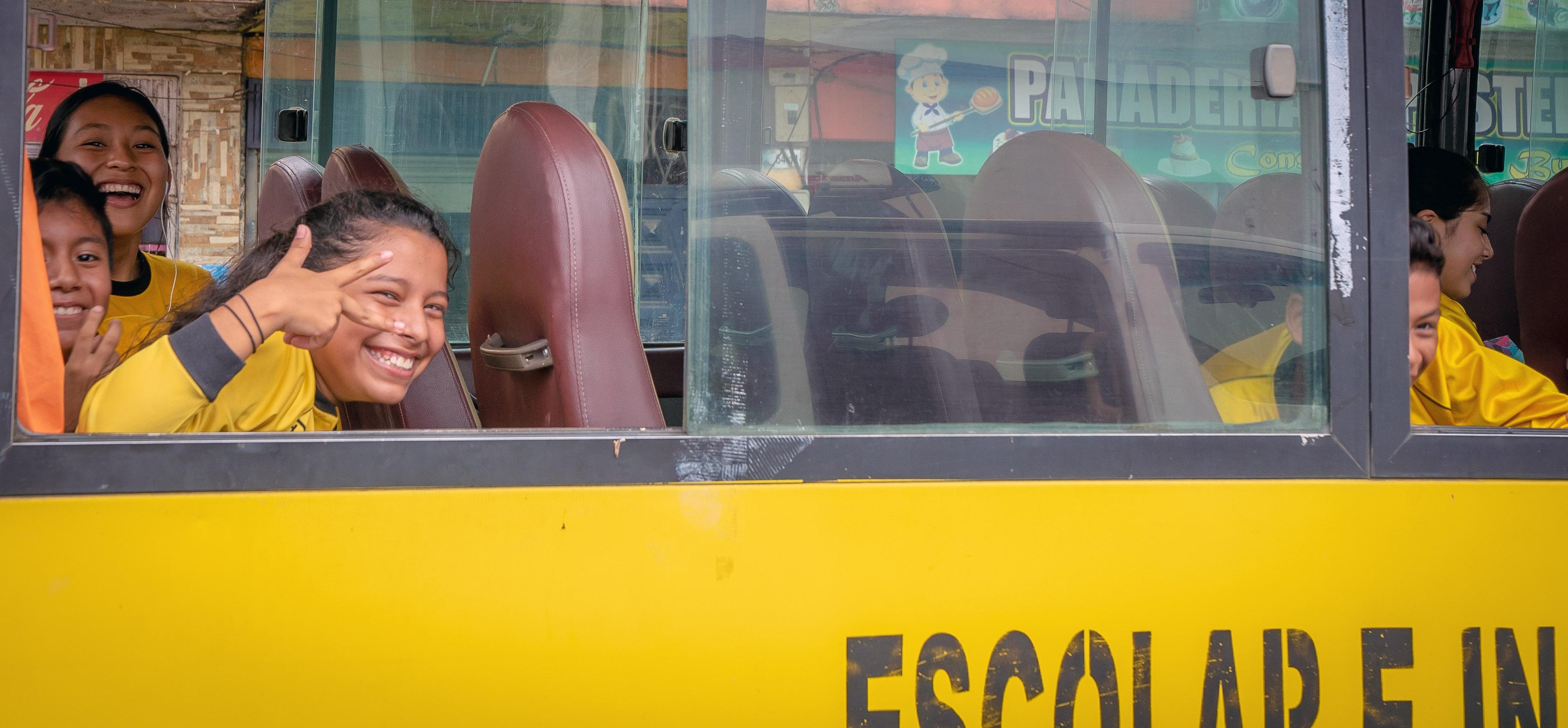 Coca Kids on Bus