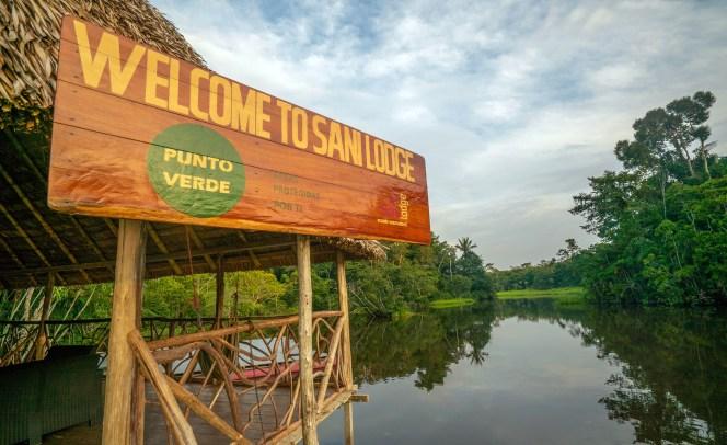 Sani Lodge Welcome Sign