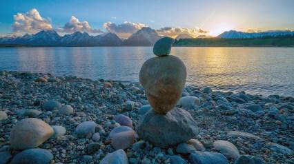 Rock Sculpture Sunset