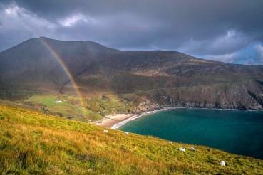 Rainbow at Keem Beach