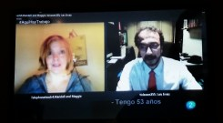Preparando una entrevista de trabajo en inglés con Luis en Barcelona( estudiante) y Maggie en Canadá ( Telephoneteacher)