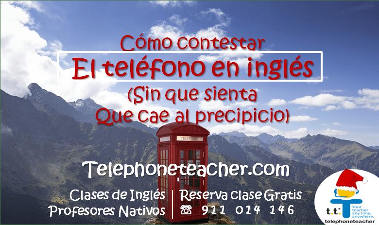 Contestar el teléfono en inglés