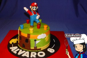 Tarta Fondant Mario Bros