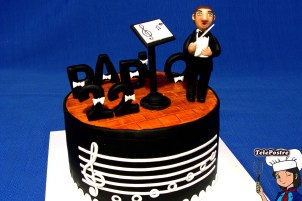 Tarta Fondant Director de Orquesta
