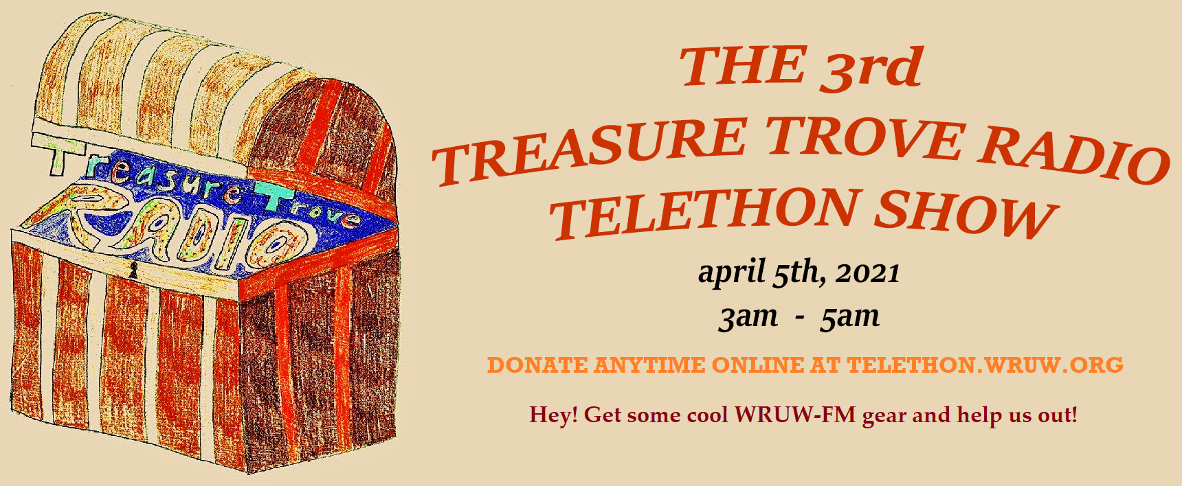 Donate to the 2021 WRUW-FM Telethon!