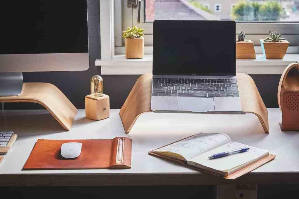 Laptop stand en bois support d'ordinateur