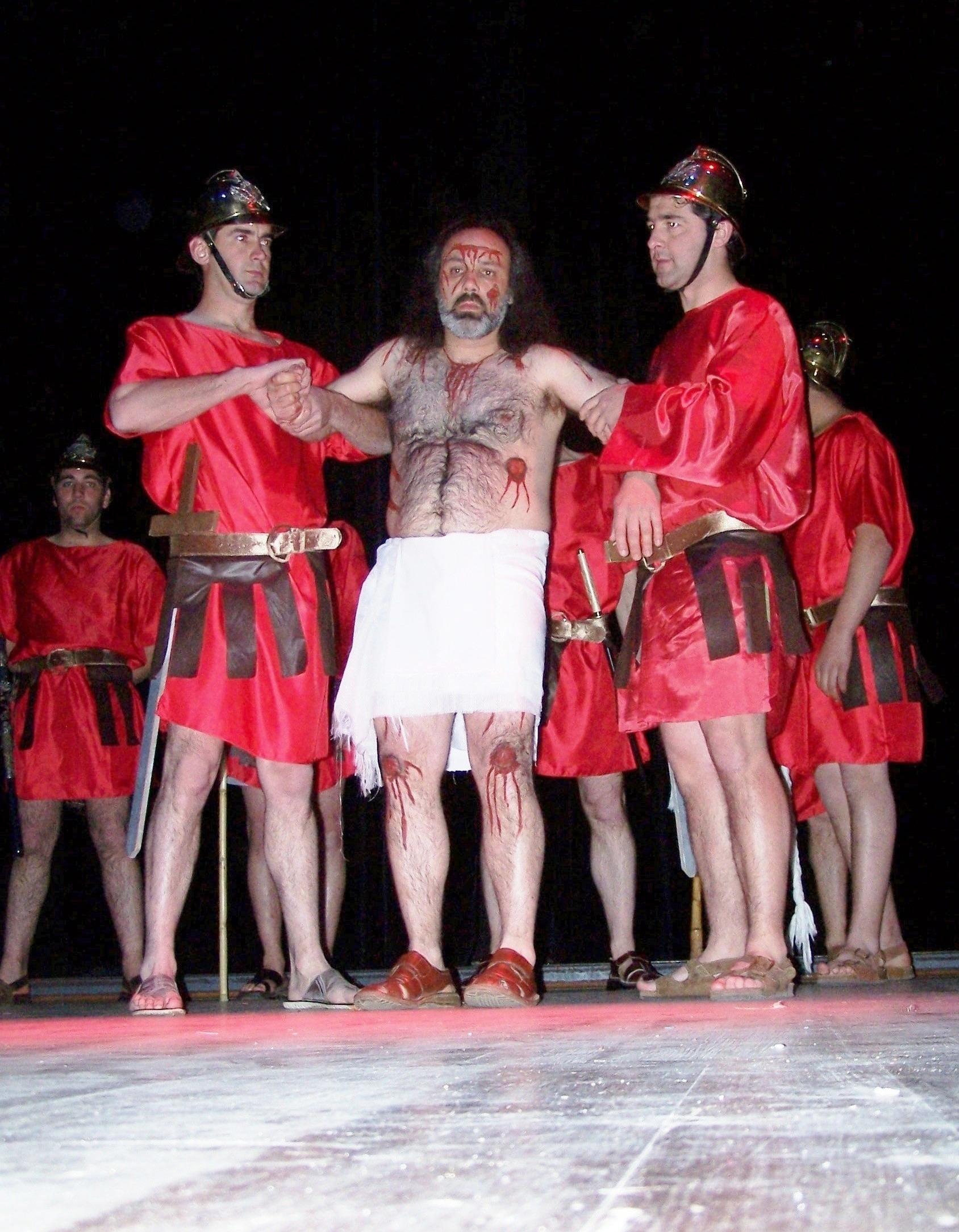 Auto Paixao 2008 Jesus preso pelos soldados Norberto Sousa Manuel Barbosa e Luis Sa FASS