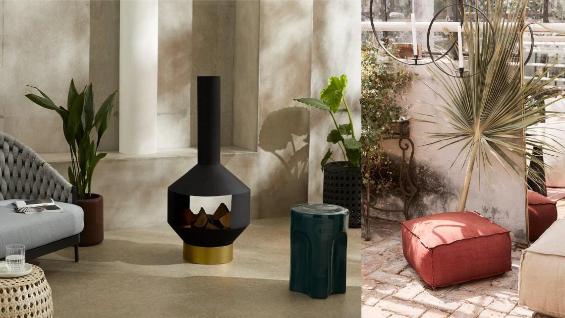 Woonfavorieten; matzwarte buitenkachel, handgemaakt vloerkussen + mooie kleine tuinbox