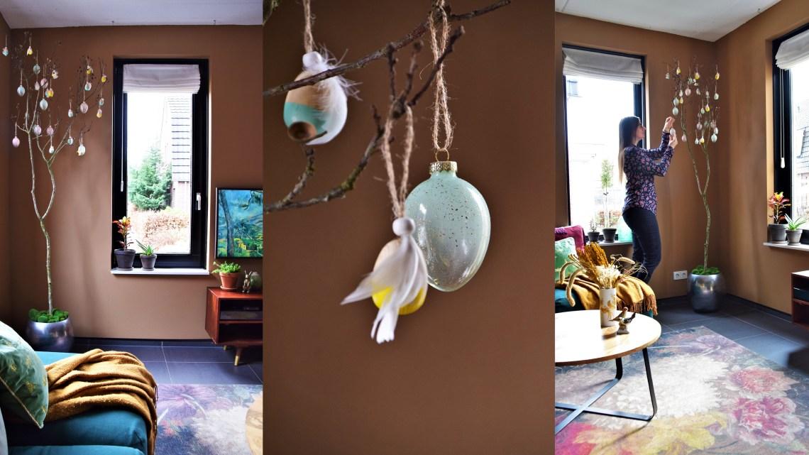 Mijn paasboom versieren + 10 tips hoe je zelf zo'n boom maakt!