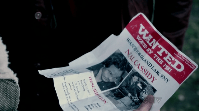 a wanted poster for Neal Cassid (play by Michael Raymond-James)