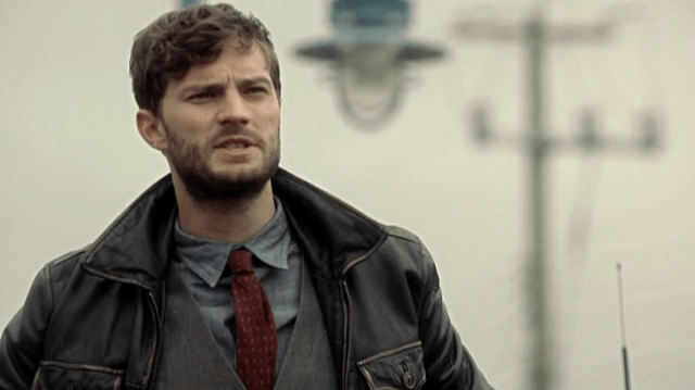 the face of sheriff graham (played by jamie dornan)