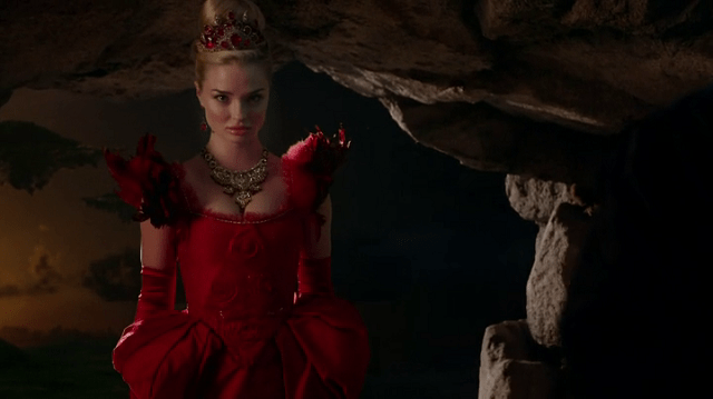 a screencap of the red queen (played by emma rigby)