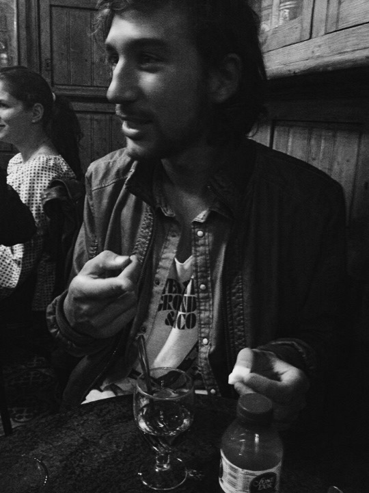 Our CouchSurfing host, Federico, showing us absinthe rituals in the oldest bar in Barcelona, Spain