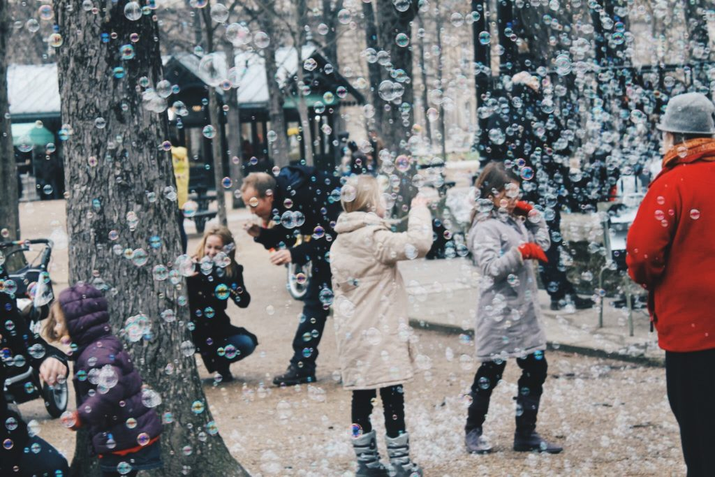 Bubbles at the Jardin du Luxembourg in Paris, France