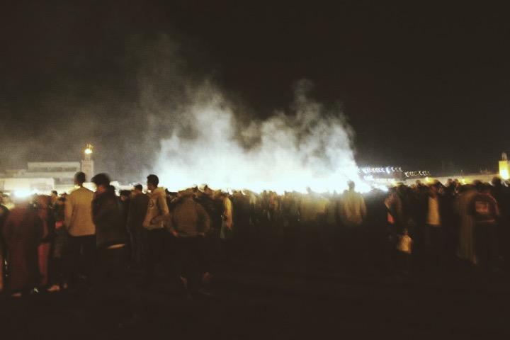 Smoke in the Jemaa el-Fna