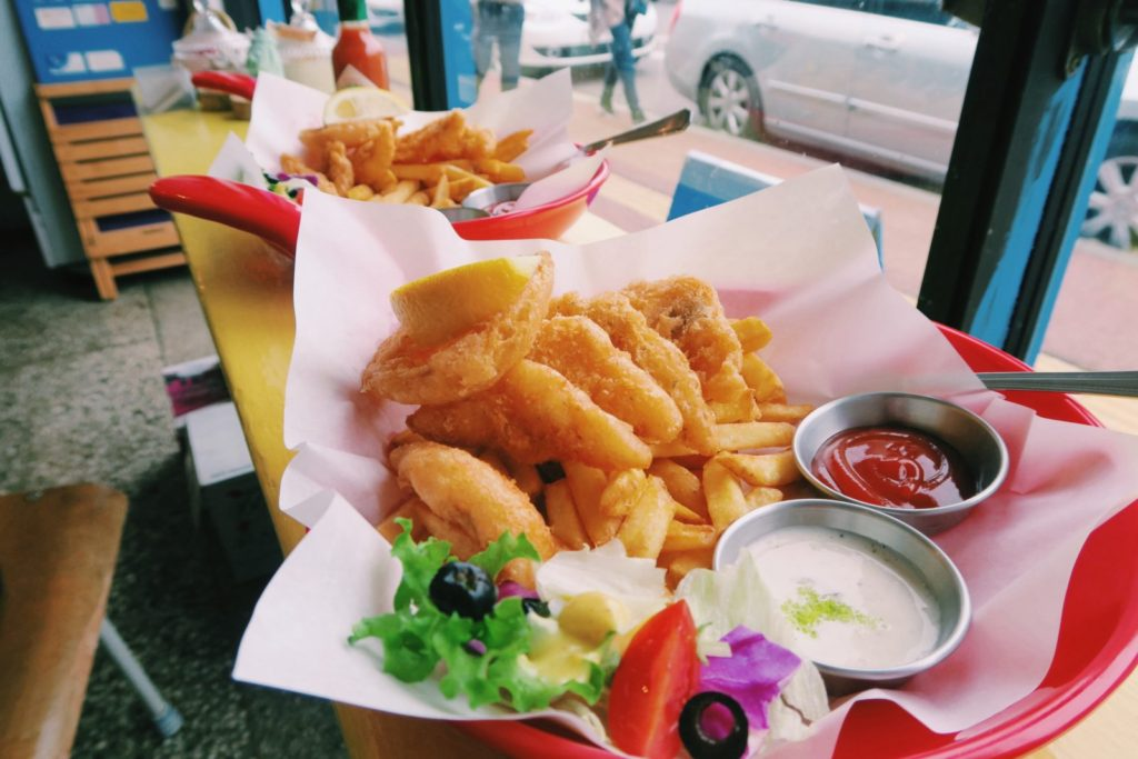 Fish and Chips for Two on Jeju Island