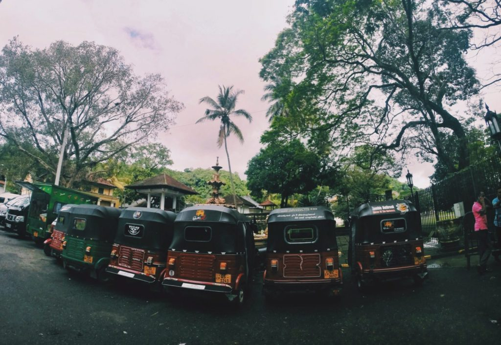 Tuktuks in Kandy, Sri Lanka