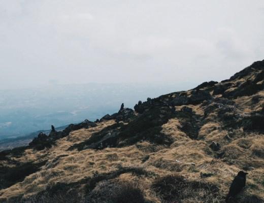 View of Jeju Island from Hallasan Mountain