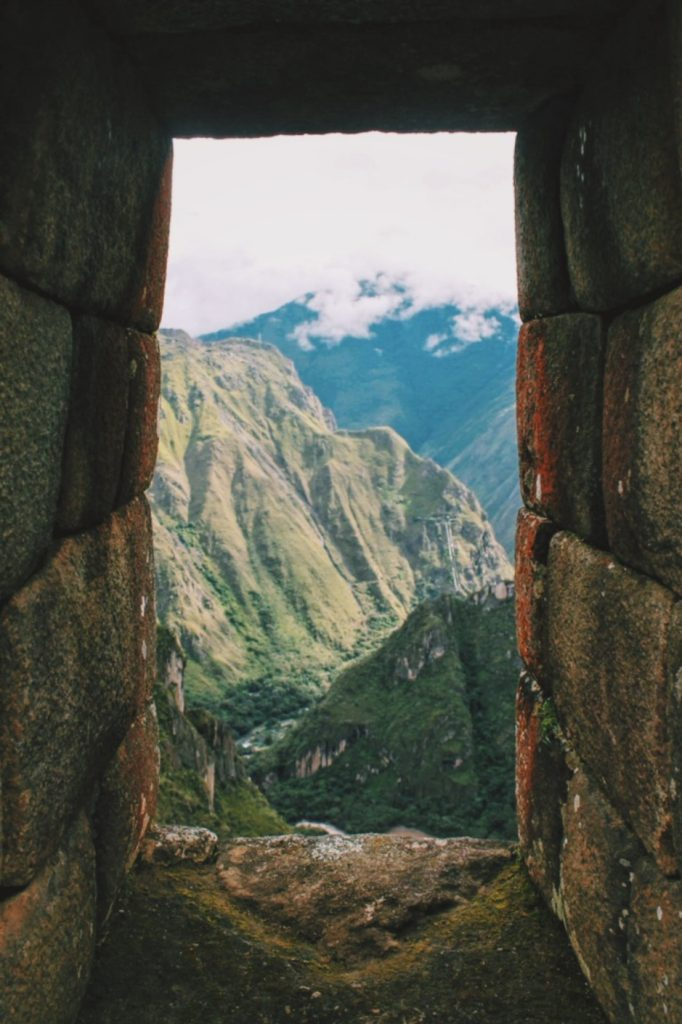 Looking at Machu Picchu window