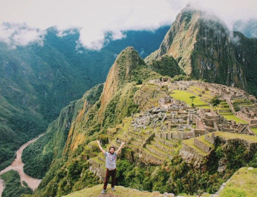 Victorious Ben at Machu Picchu