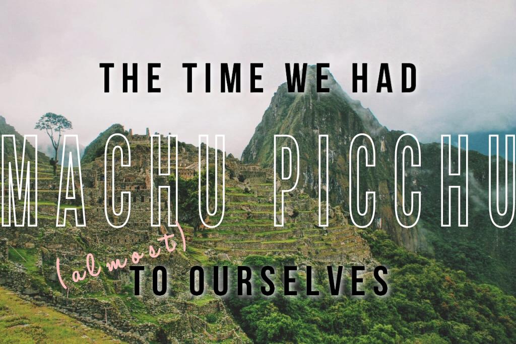 Machu Picchu title