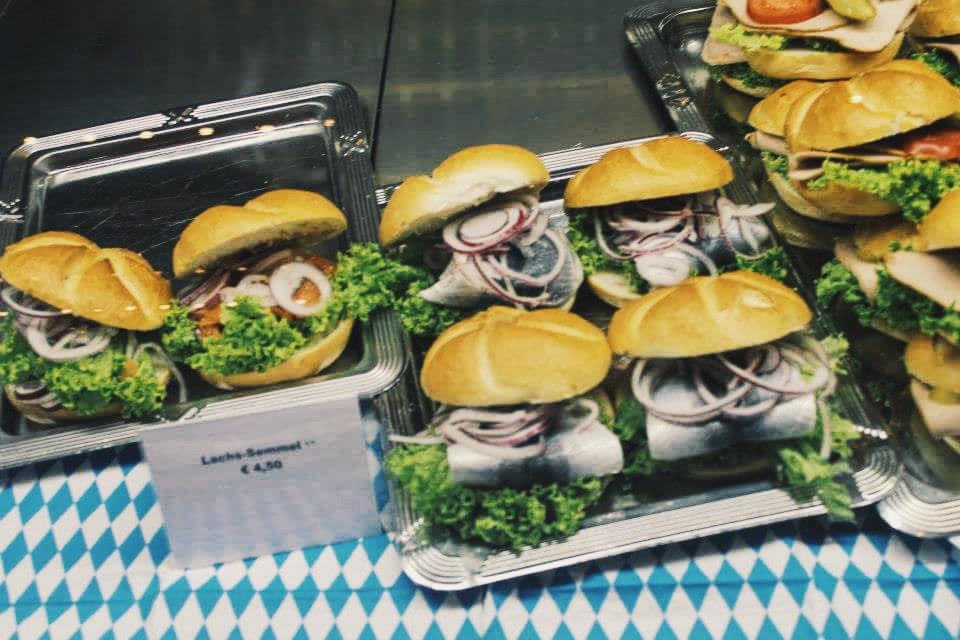 Fish skin sandwich at Oktoberfest, Munich, Germany