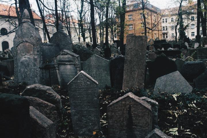 Old Jewish Cemetary in Prague, Czech Republic
