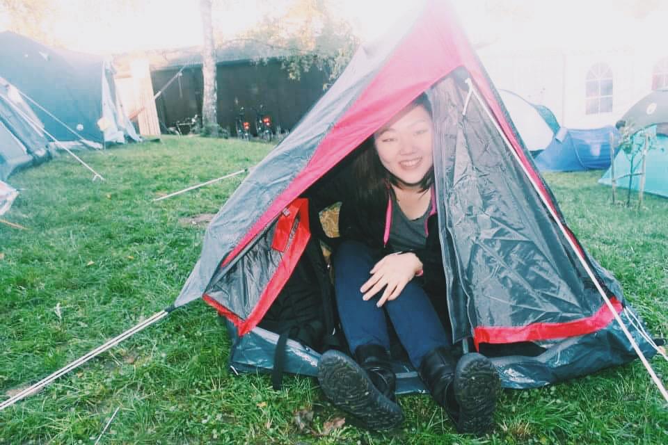 Small tent at hostel for Oktoberfest