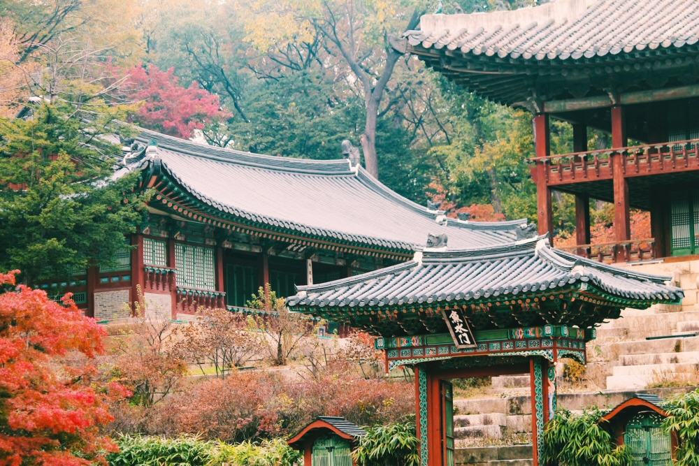 Changdeokgung Palace, Secret Garden, South Korea autumn
