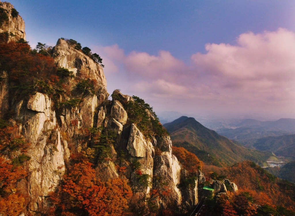 Daedunsan Mountain, beautiful Autumn in Korea