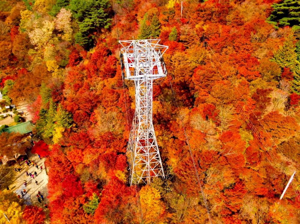 Daedunsan Mountain Provincial Park, South Korea autumn
