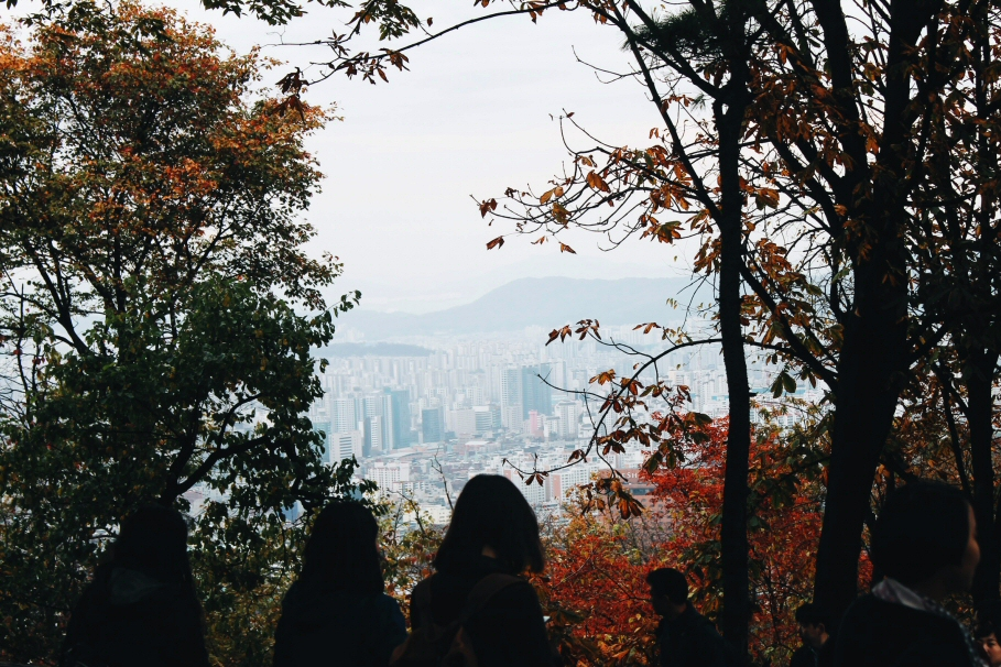 View of Seoul from Namsan, Autumn in Korea