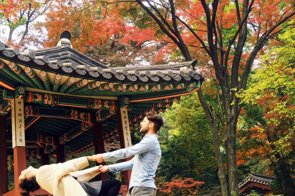 South Korea autumn Changdeokgung Secret Garden