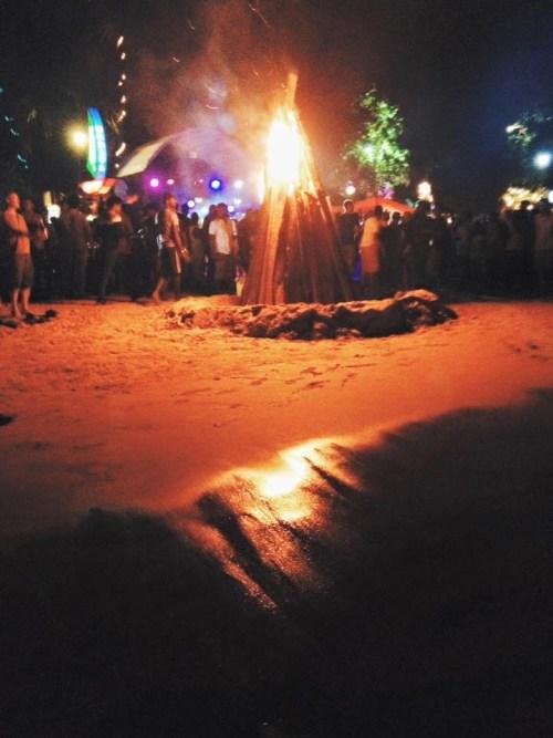 Bonfire at Mirissa Beach Party, New Year's Eve Sri Lanka