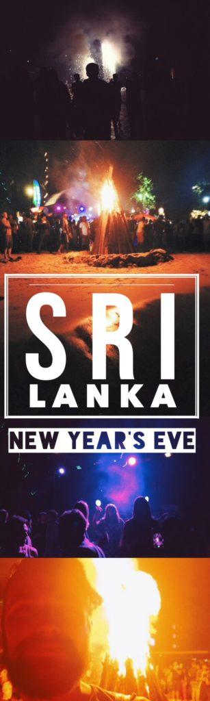 Mirissa Beach Party, Sri Lanka New Year's Eve - pin