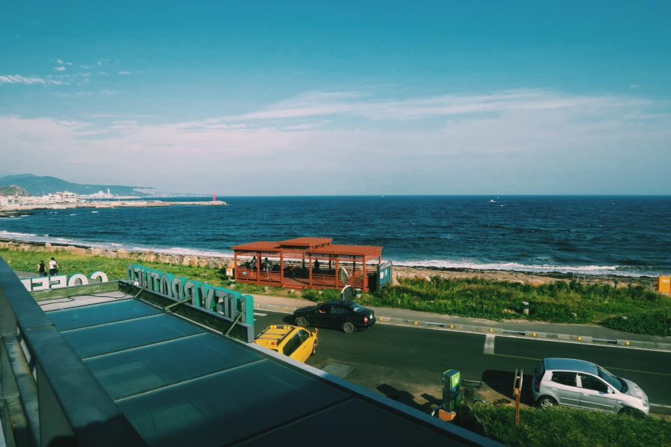 View of Sagye Beach Ocean, Jeju Island, South Korea