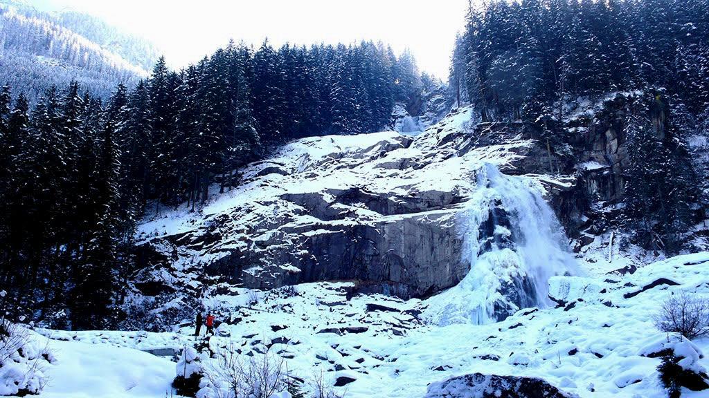 Krimml Waterfalls in Austria's Salzburgerland - traveljunkiegirl, top winter travel destination