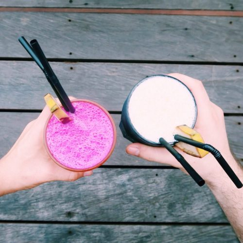 Dragonfruit and Mango Smoothie, Ubud Healthy Food
